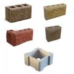 Блоки заборные, декоративные от компании Юникфем