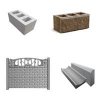 Шлакоблок, декоративные блоки, еврозаборы, бордюры от компании Юникфем